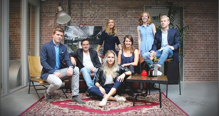v.l.n.r. Johan Nota (Projectleider), Stijn van Hooff (Hoofd Evenementen 2), Simone van den Broek (Interne Zaken), Esmee Augustijn (Hoofd Marketing & Communicatie), Judith Rigter (Hoofd Evenementen 3), Elisa Revers (Hoofd Evenementen1)